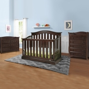 Graco Cribs Westbrook 3 Piece Nursery Set - 4-in-1 Convertible Crib, Avalon 5 Drawer and 6 Drawer Dresser in Espresso