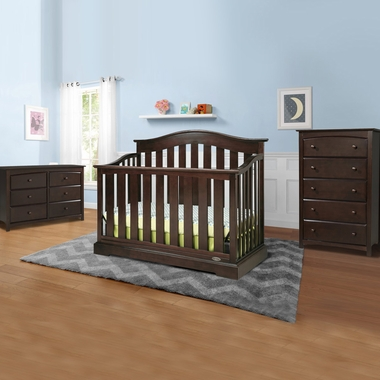 Graco Cribs Westbrook 3 Piece Nursery Set - 4-in-1 Convertible Crib, Kenton 5 Drawer and 6 Drawer Dresser in Espresso - Click to enlarge