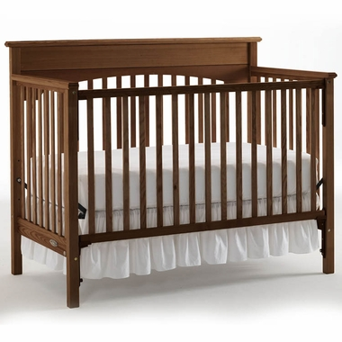Graco Lauren 4 In 1 Convertible Crib In Walnut Free Shipping