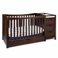 Graco Remi 4-in-1 Convertible Crib and Changer in Espresso