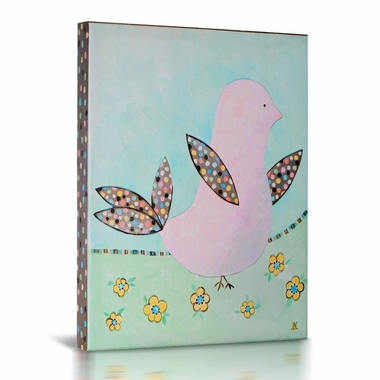 Green Frog Birds & Blooms 2 Canvas Gallery Wrapped Art