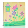 Green Frog Flowers & Flutters Canvas Gallery Wrapped Art