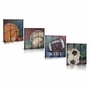 Green Frog For the Love of The Game Canvas Gallery Wrapped Art 4 Piece Set