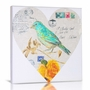 Green Frog Love Note 1 Canvas Gallery Wrapped Art