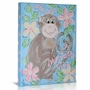 Green Frog My Little Monkey Girl Canvas Gallery Wrapped Art