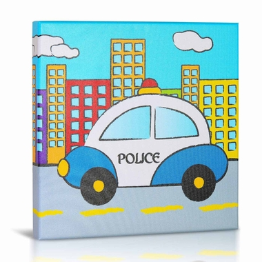 Green Frog Police Canvas Gallery Wrapped Art