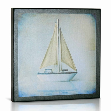 Green Frog Sailboat 1 Canvas Gallery Wrapped Art