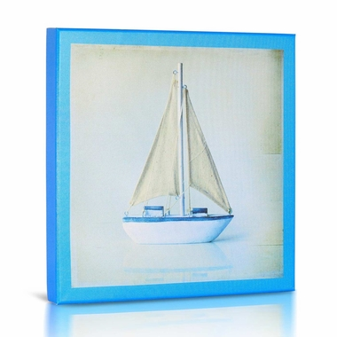 Green Frog Sailboat 2 Canvas Gallery Wrapped Art