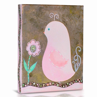 Green Frog Spring Is In The Air 2 Canvas Gallery Wrapped Art