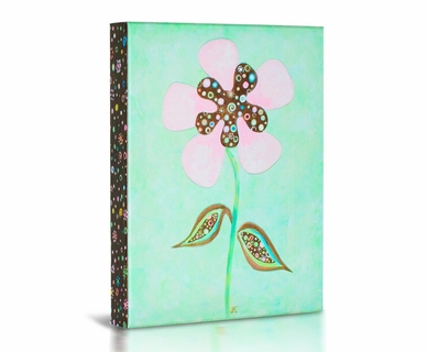 Green Frog Spring Is In The Air 3 Canvas Gallery Wrapped Art