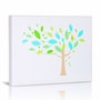 Green Frog Tree and Shapes 2 Canvas Gallery Wrapped Art