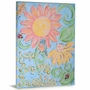 Green Frog You are My Sunshine Canvas Gallery Wrapped Art