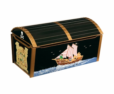 GuideCraft Pirate Treasue Chest Toy Box