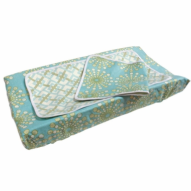 Hoohobbers Burst Seagrass Dual Changing Pad Cover