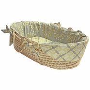 Hoohobbers Burst Sterling Tailored Moses Basket