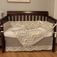 Chevron Blue Bedding Collection by Hoohobbers