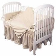 Hoohobbers Ecru 4 Piece Crib Bedding Set