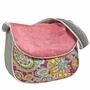 Hoohobbers Flirty Flowers Pink Messenger Diaper Bag