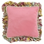 Hoohobbers Flirty Flowers Pink Square Throw Pillow