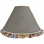 Hoohobbers Flirty Flowers Pink Table Lamp Shade