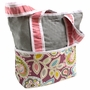 Hoohobbers Flirty Flowers Pink Tote Diaper Bag