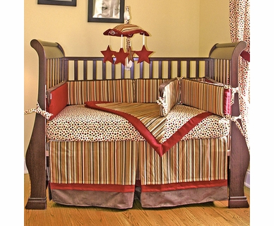 Hoohobbers Hot Tamale 4 Piece Crib Bedding Set