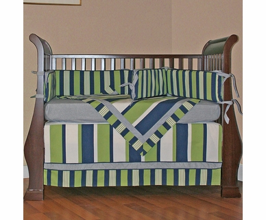 Hoohobbers Lacrosse 4 Piece Crib Bedding Set