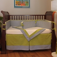 Hoohobbers Maze Blue 4 Piece Crib Bedding Set