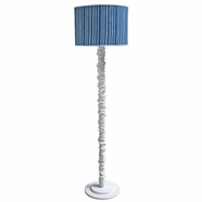 Hoohobbers Medallion Blue Floor Lamp - Drum