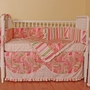 Hoohobbers Paisley 4 Piece Baby Crib Bedding Set