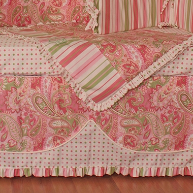 Hoohobbers Paisley 4-sided Crib Skirt