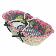 Hoohobbers Sleek Slate Doll Moses Basket