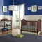 Imagio Baby Harper 2 Piece Nursery Set - Cottage Panel Crib and Changer with Pad in Chocolate Mist