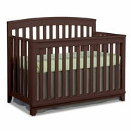 Imagio Baby Midtown Convertible Crib in Chocolate Mist