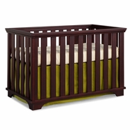 Imagio Baby Midtown Island Cottage Crib in Chocolate Mist