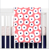 In Bloom Crib Bedding Collection by Babyletto