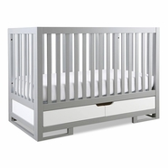 Karla DuBois Oslo Convertible Crib in Moon Gray & White