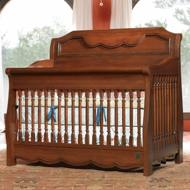 Kathy Ireland  Princess Garden Sleigh Crib in Charleston Cherry by La Jobi - Click to enlarge
