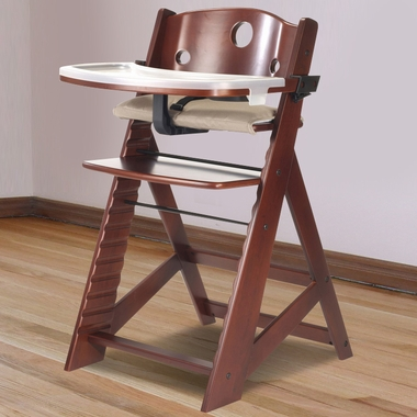 Keekaroo Height Right High Chair In Mahogany   Click To Enlarge