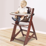 Keekaroo Height Right High Chair With Infant Insert U0026 Tray In Mahogany And  Chocolate