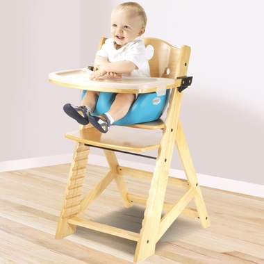 Keekaroo Height Right High Chair with Infant Insert & Tray in Natural ...