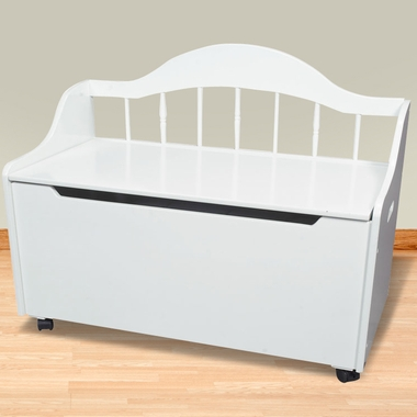 Kids Deacon S Bench Toy Chest On Casters White Free Shipping