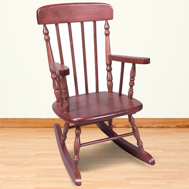 Kid's Korner Deluxe Child's Spindle Rocking Chair in Cherry - Click to enlarge