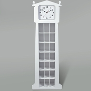 Kid's Korner Grandfather Clock with CD Organizer in White