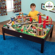 Kidkraft Airport Express Train Table & Set in Espresso