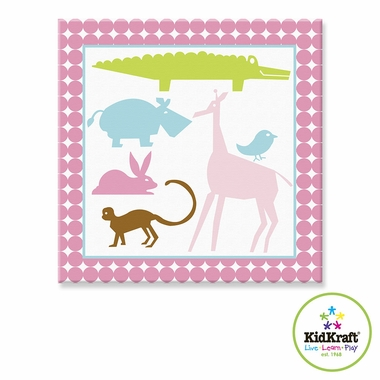"Kidkraft Animal Girls 10""x24"" Canvas Wall Art"