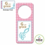 Kidkraft Animal Girls Personalized Door Hanger