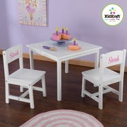 KidKraft Aspen Table and Chair Set in White