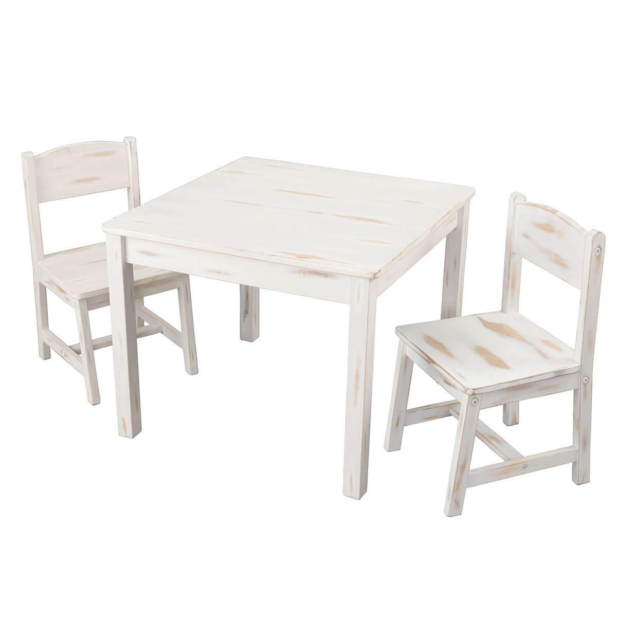 Phenomenal Kidkraft Aspen Table And Chairs In Distressed Wood Finish Machost Co Dining Chair Design Ideas Machostcouk