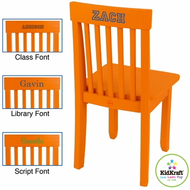 KidKraft Avalon Chair in Tangerine - Click to enlarge